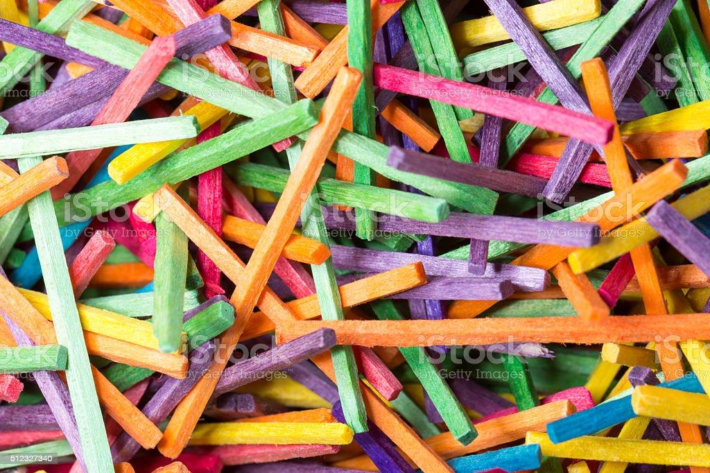 Colourful Matchsticks Close Up stock photo