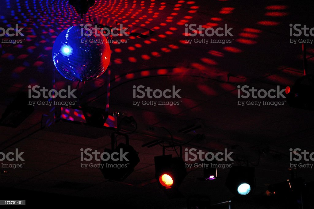 Colourful mirrorball in disco 4 royalty-free stock photo