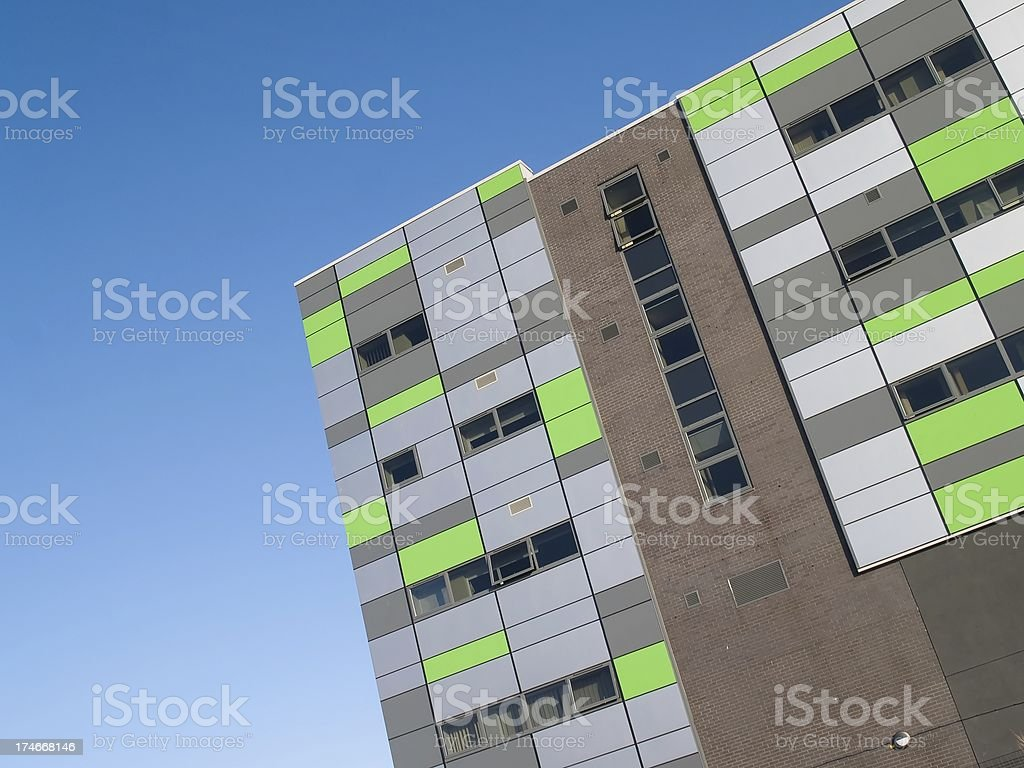 Colourful modern university building in Preston, Lancashire. royalty-free stock photo