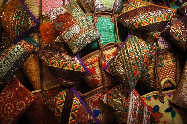 Colourful Moroccan Purse stock photo