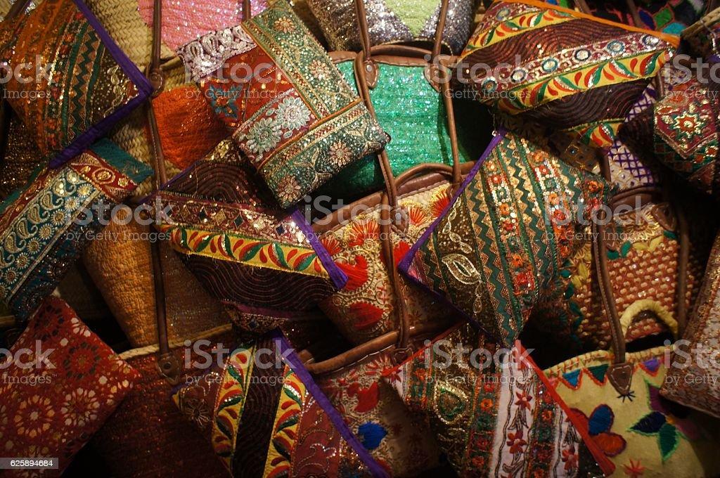 Colourful Morrocan Purse stock photo