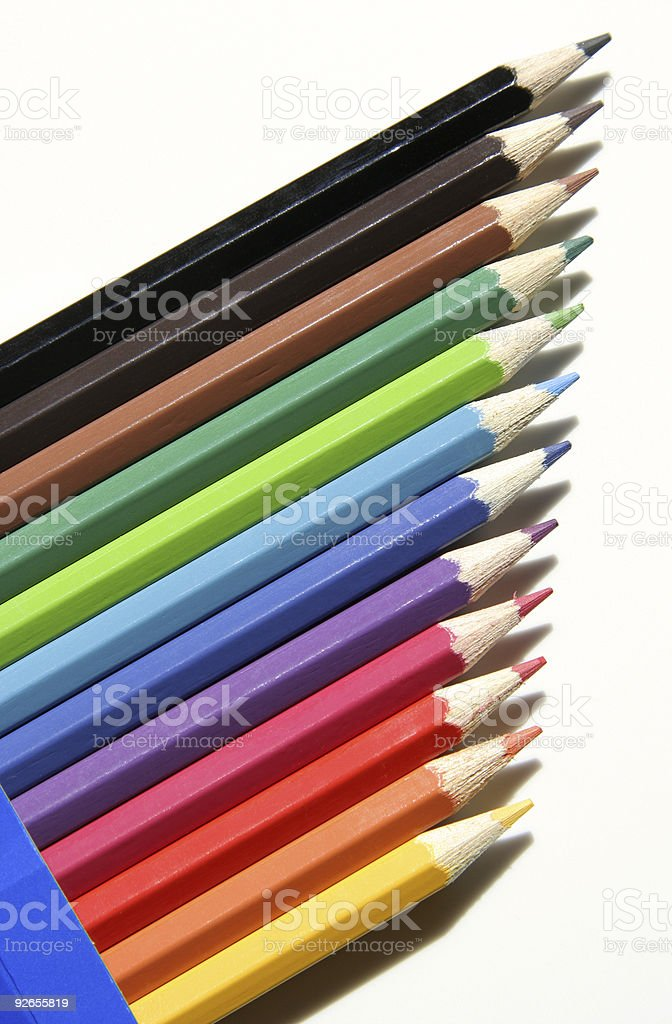 Colourful New Crayons royalty-free stock photo