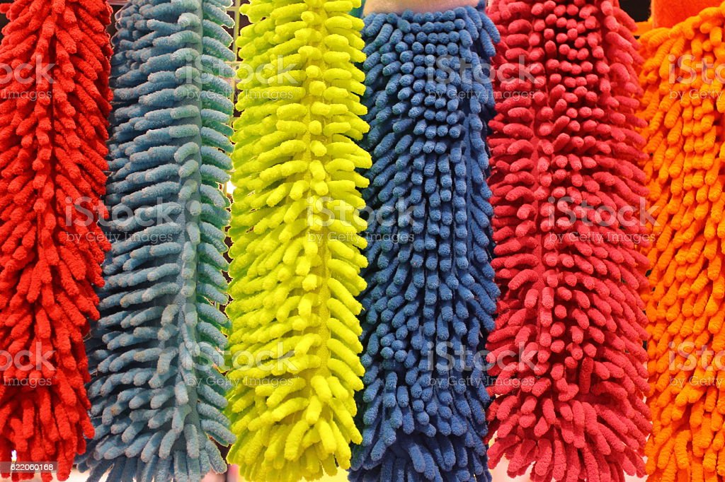 Colourful of doormat stock photo
