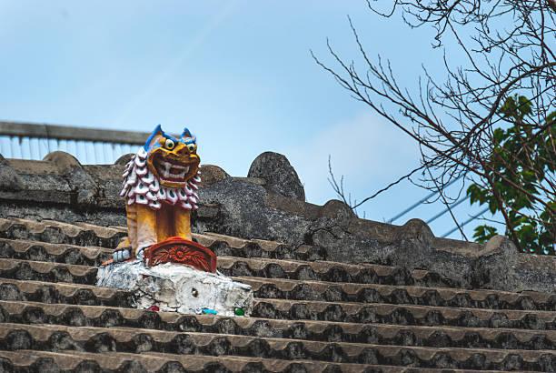 Colourful Okinawa pottery stock photo