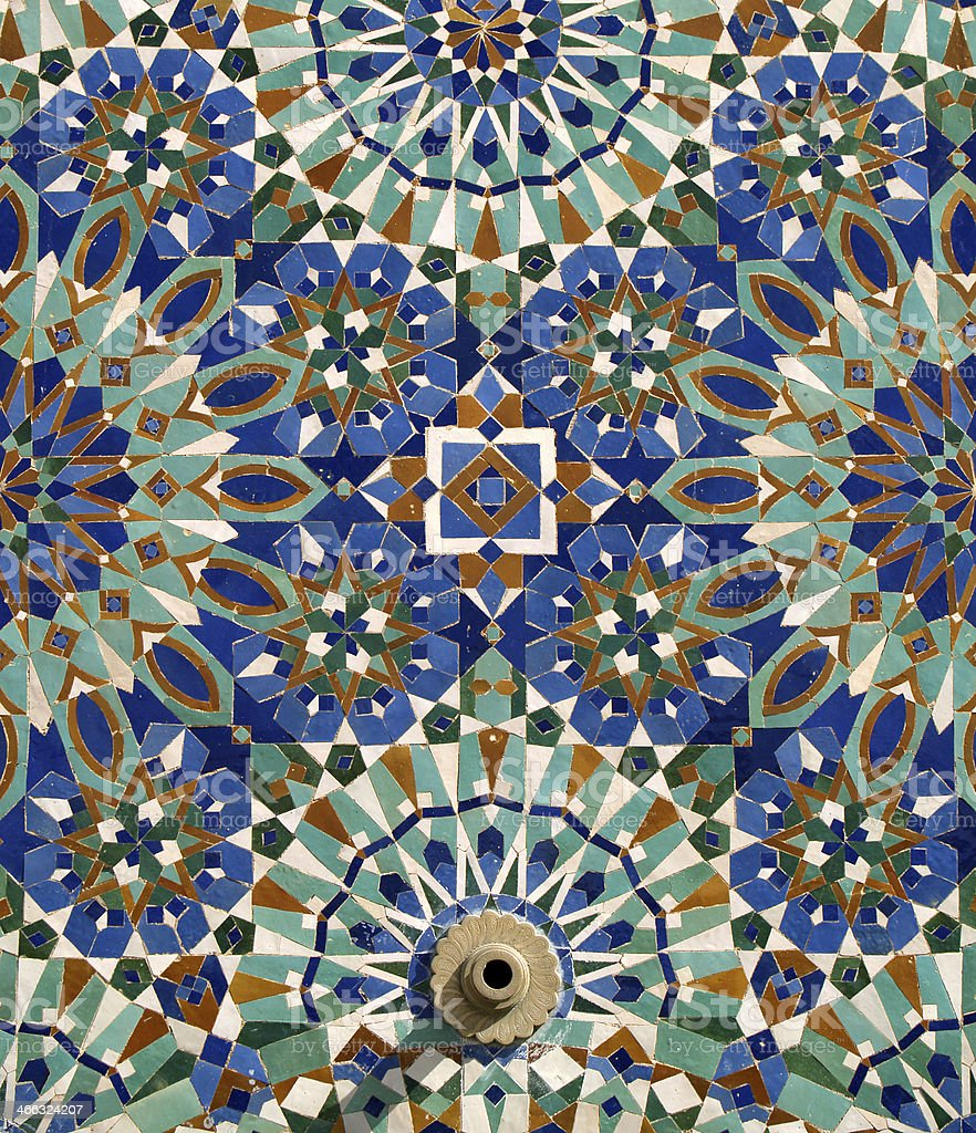 Colourful Old Islamic Patterned Ceramic Tiles Morocco stock photo ...