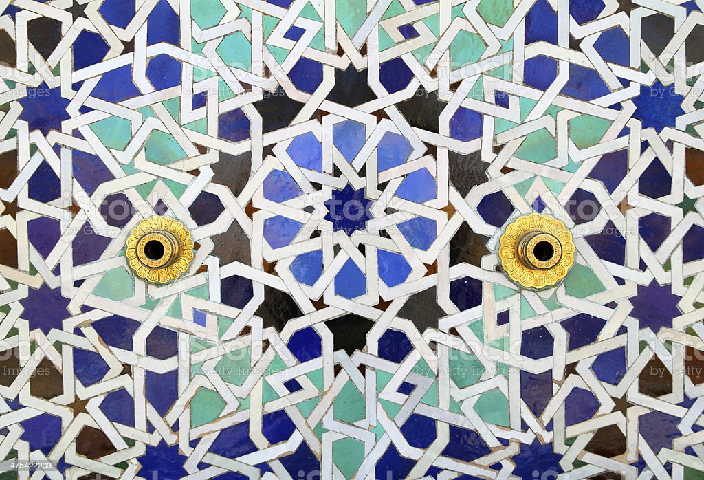 Colourful Old Islamic Patterned Ceramic Tiles stock photo ...