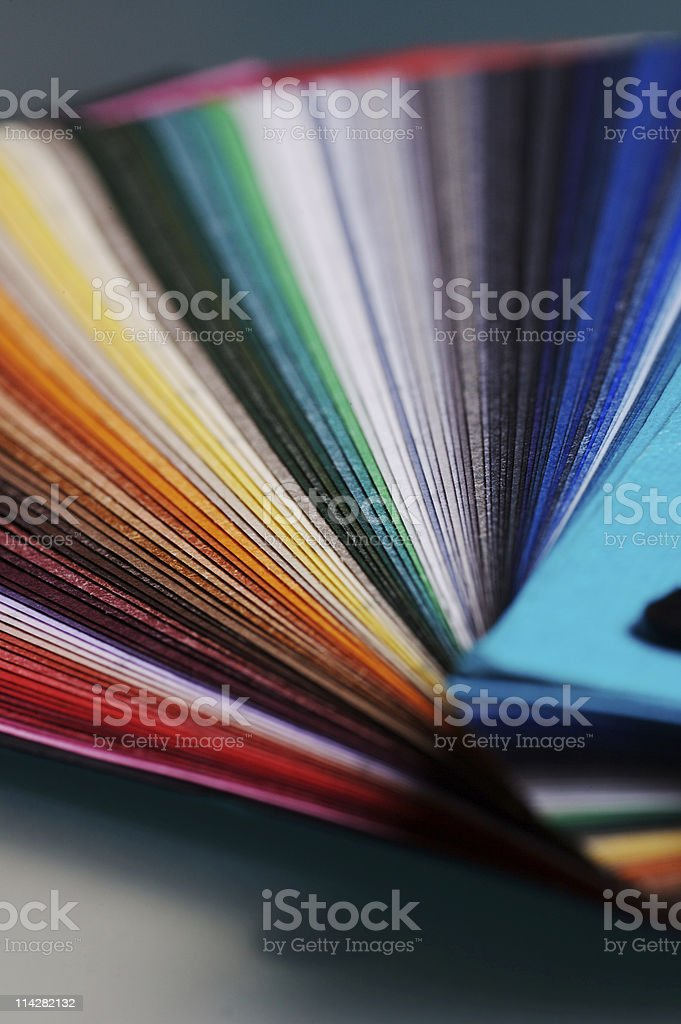 Colourful Paper swatch V2... royalty-free stock photo