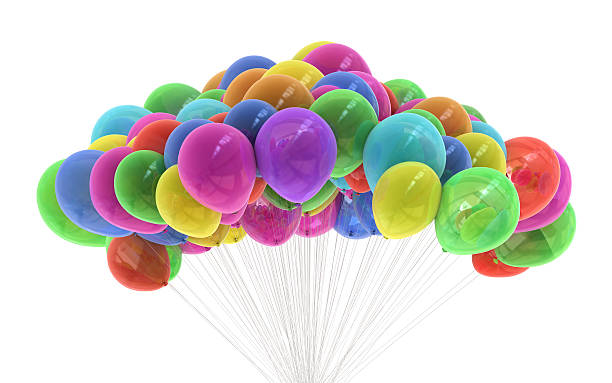 Colourful party balloons stock photo