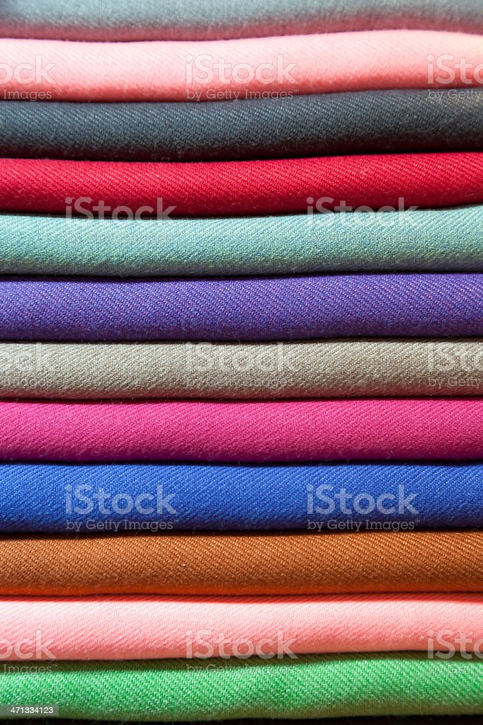Colourful pashminas stock photo