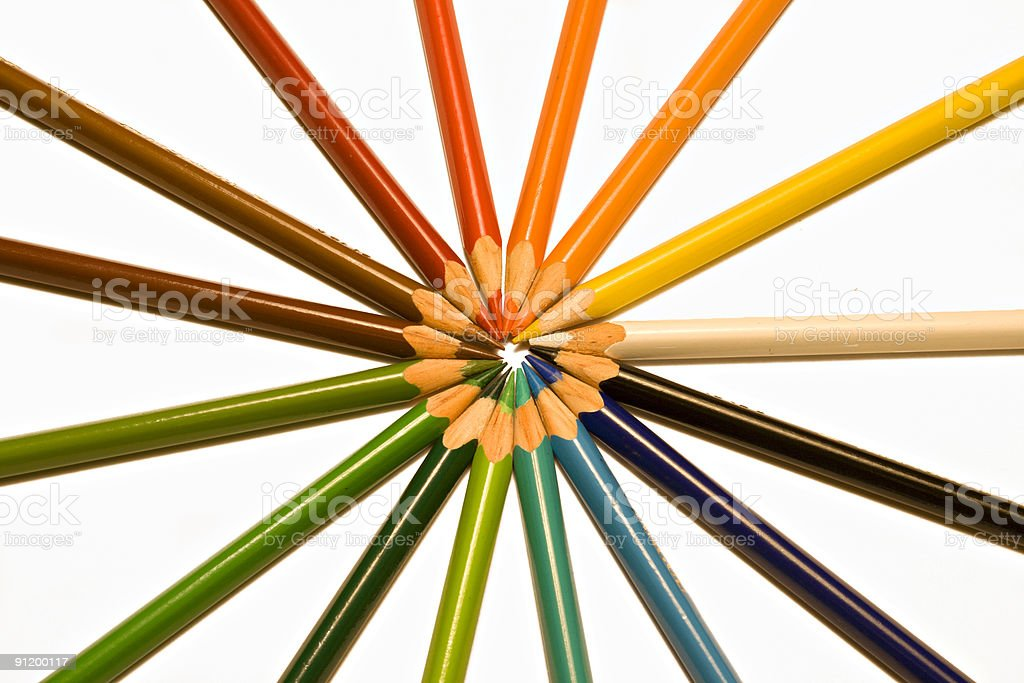 Colourful pencils 2 royalty-free stock photo