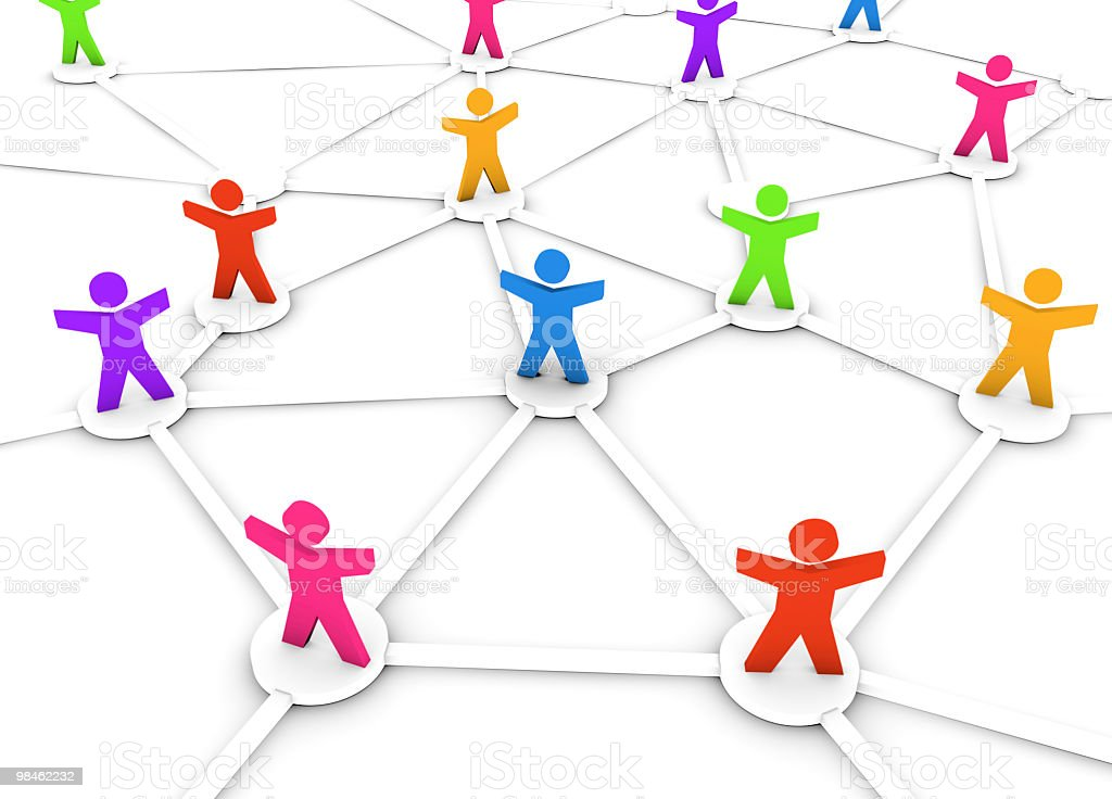 Colourful People Network royalty-free stock photo