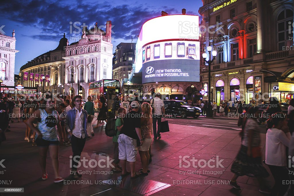 Colourful Piccadilly Circus, London stock photo