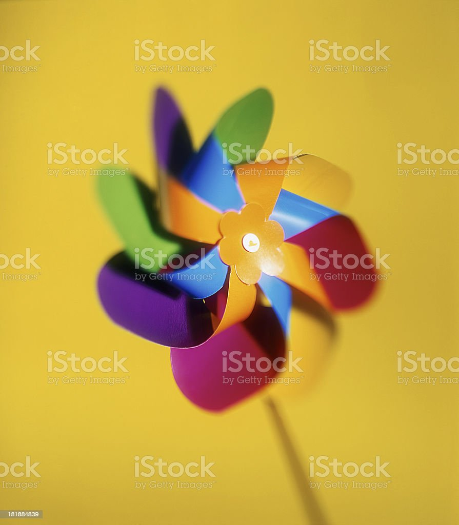 Colourful pinwheel royalty-free stock photo