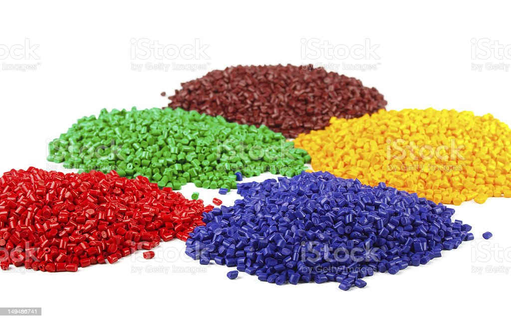 Colourful plastic granules royalty-free stock photo