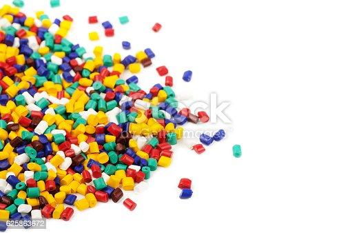istock Colourful plastic granules 625863672