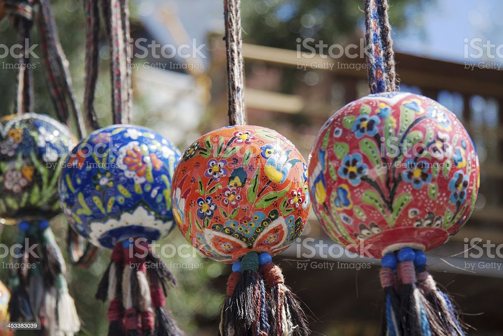 Colourful pottery balls royalty-free stock photo
