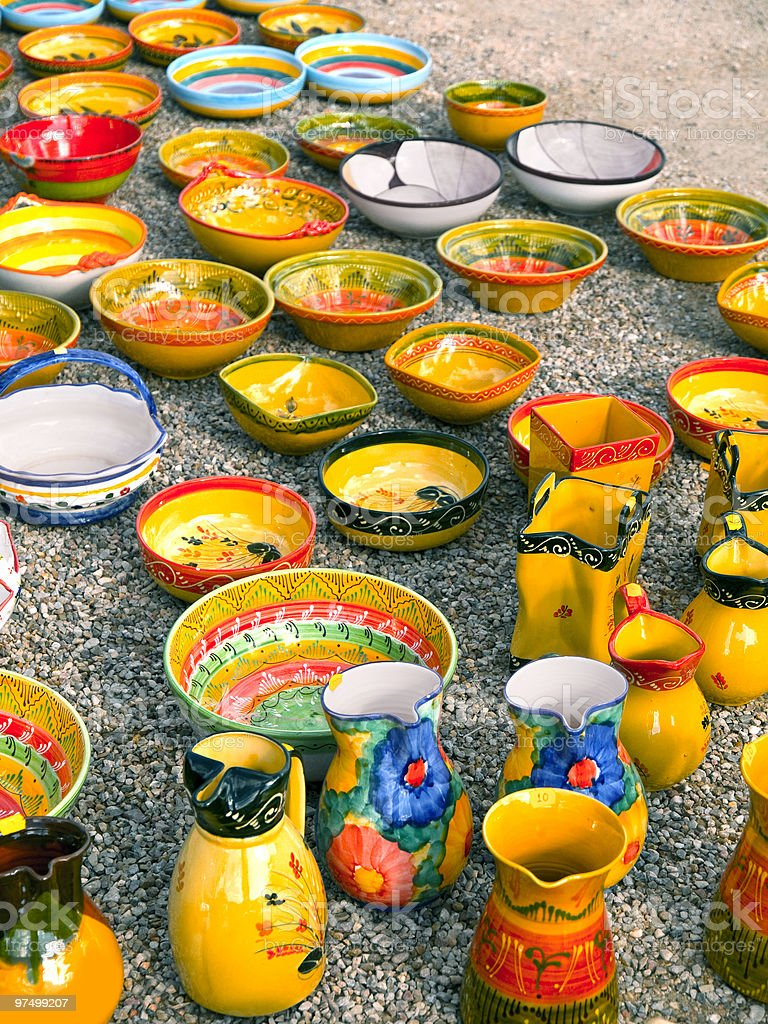 Colourful Pottery royalty-free stock photo
