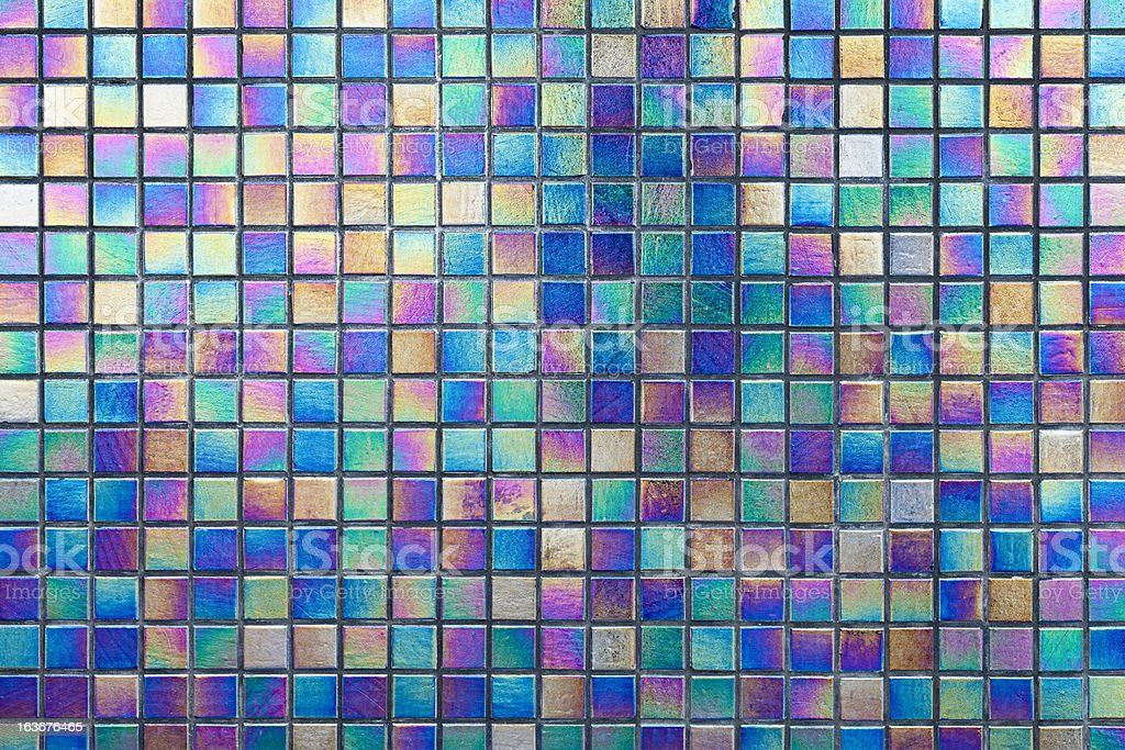 Colourful reflective mosaic tile background. royalty-free stock photo