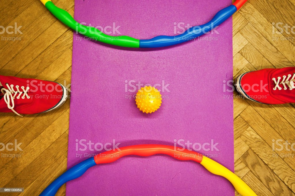 Colourful Rings And Red Canvas Forwear royalty-free stock photo