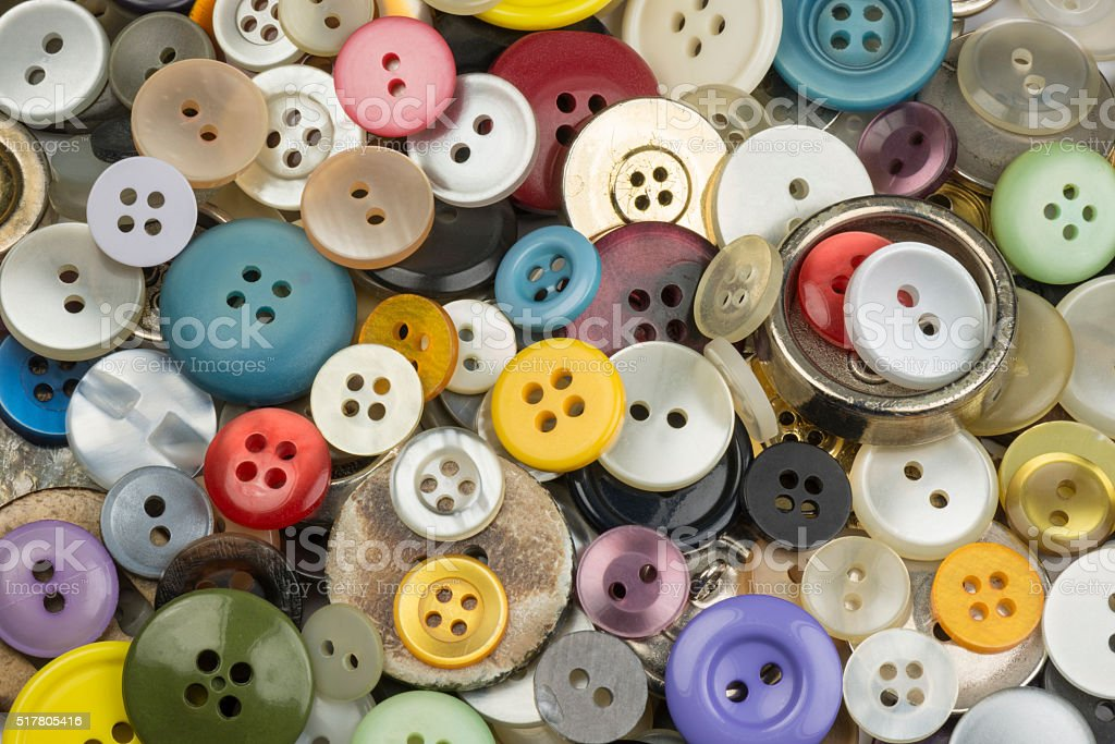 Colourful round buttons stock photo