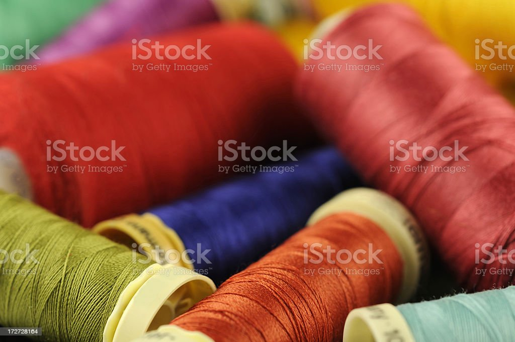 Colourful sewing threads royalty-free stock photo