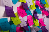 istock Colourful sticky notes with things to do 543590424