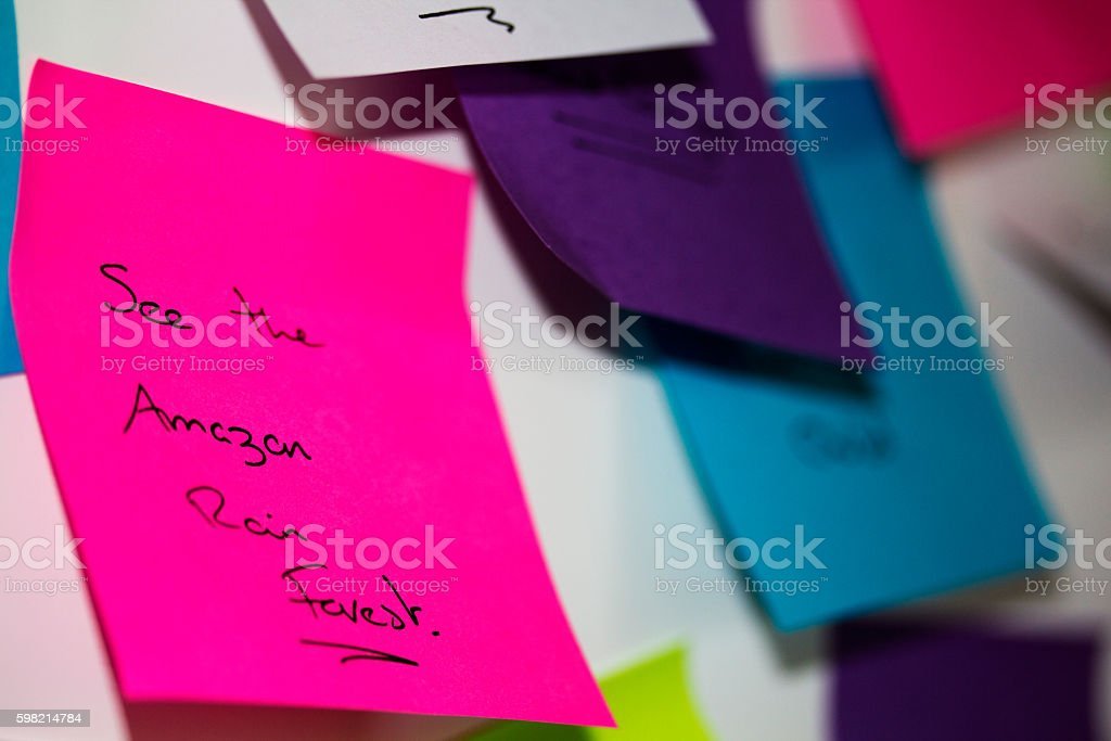 Colourful sticky notes with things to do foto royalty-free