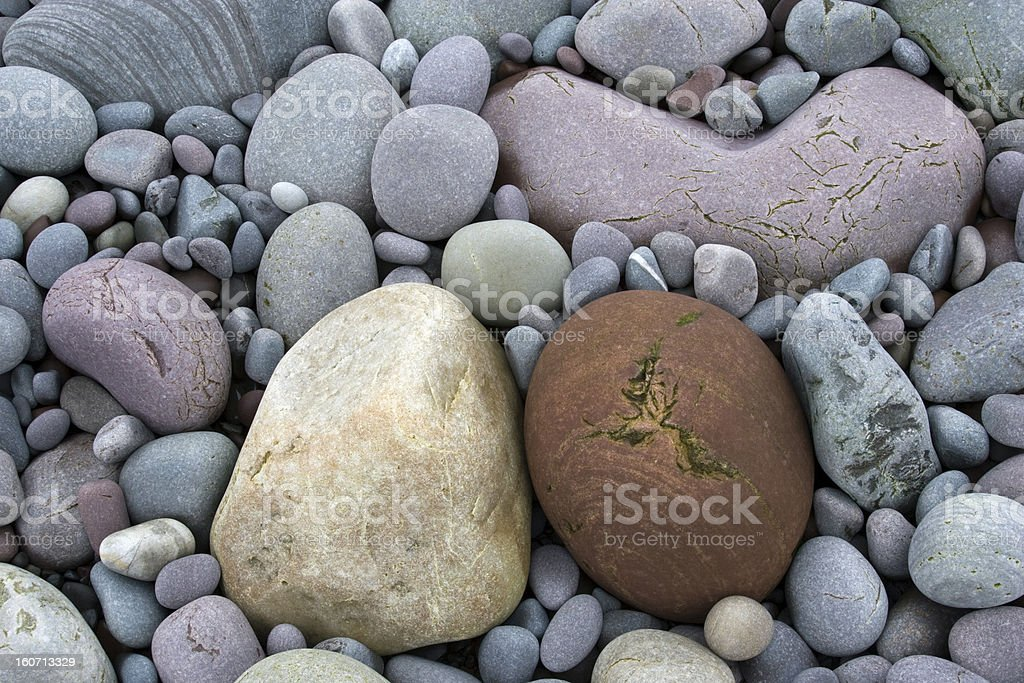 colourful stones in Norway stock photo