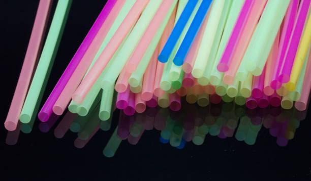 Colourful Straws stock photo