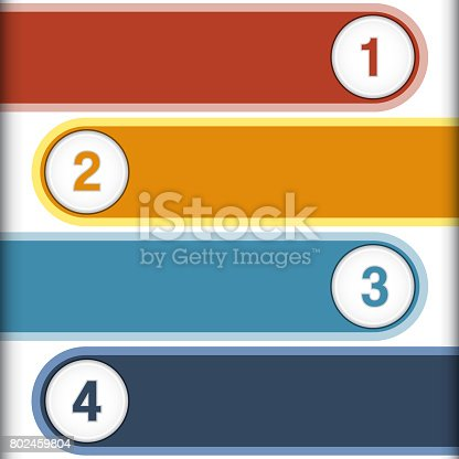 istock Colourful strips, template infographic 802459804