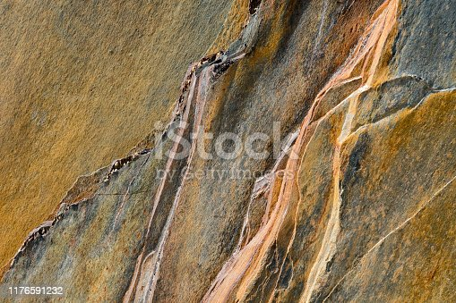 Colourful surface of rock. Photo was made in Norway