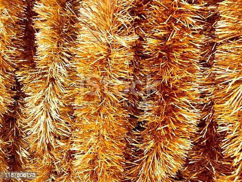 Abstract Shiny Christmas Tinsel Background.