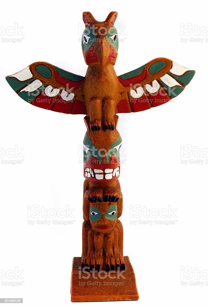Colourful Totem stock photo