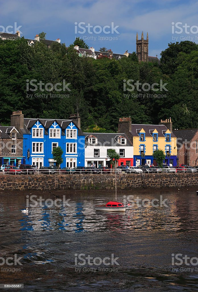 Colourful town of Tobermory, Mull, Scotland. stock photo