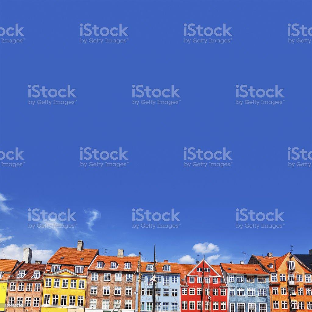 Colourful townhouses in Nyhavn, Copenhagen, Denmark royalty-free stock photo