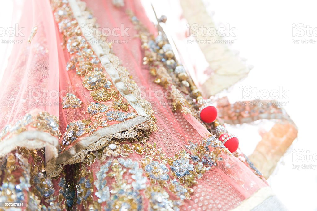 colourful traditional indian bride dress royalty-free stock photo