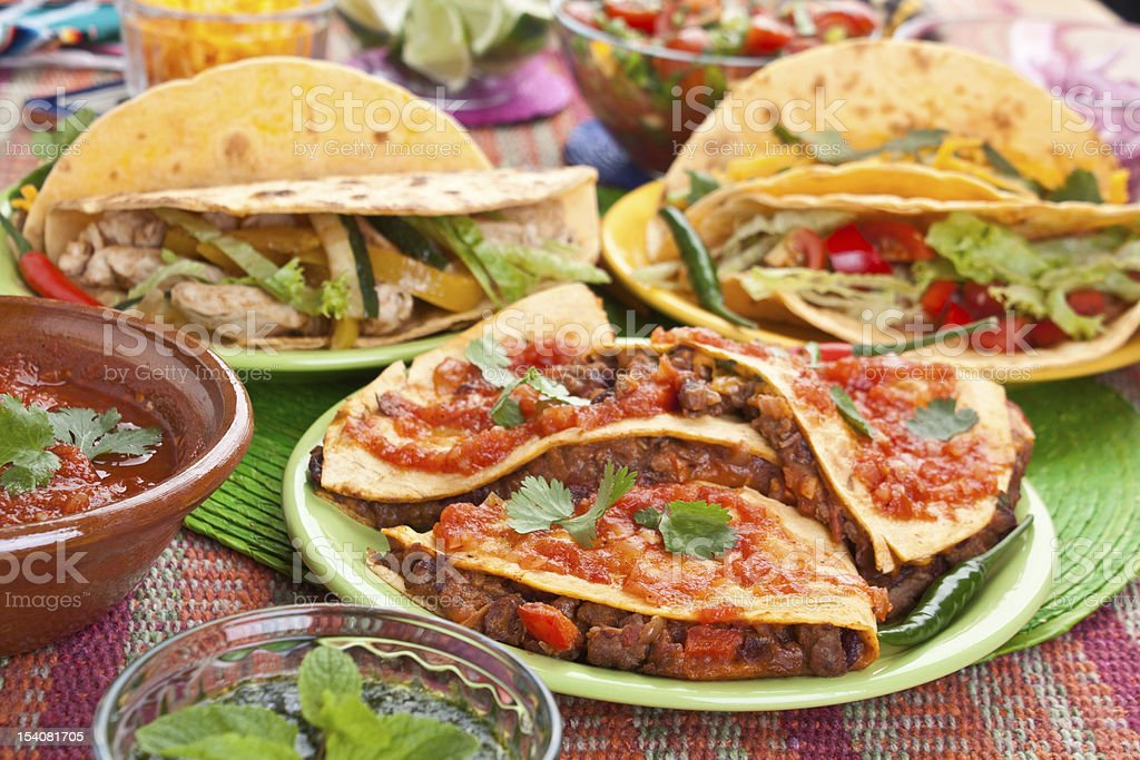 Colourful Traditional Mexican Food royalty-free stock photo