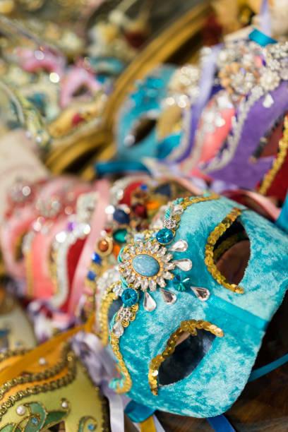 Colourful Venetian Masks, Venice, Italy stock photo