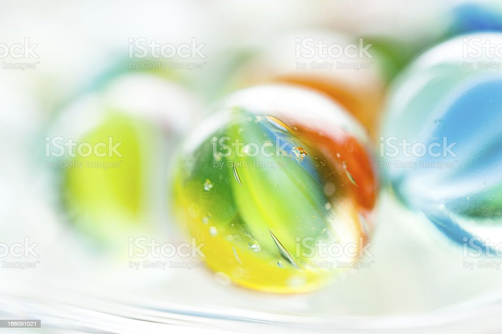 Colourful vintage glass marbles stock photo