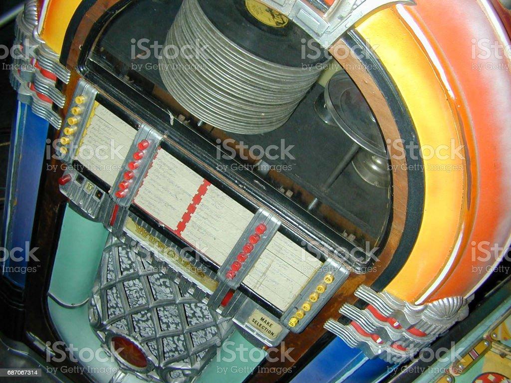 Colourful vintage jukebox stock photo