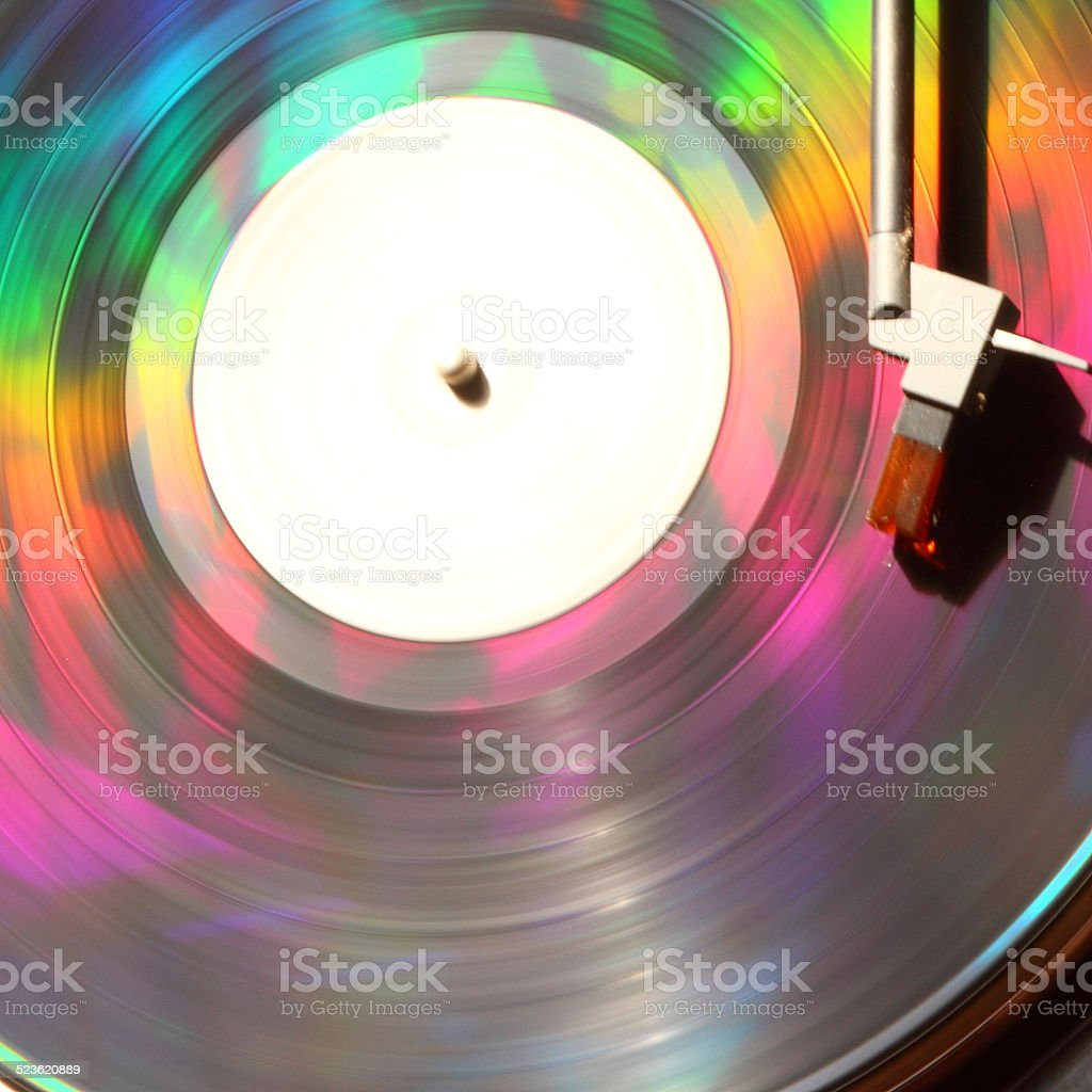 Colourful Vinyl stock photo