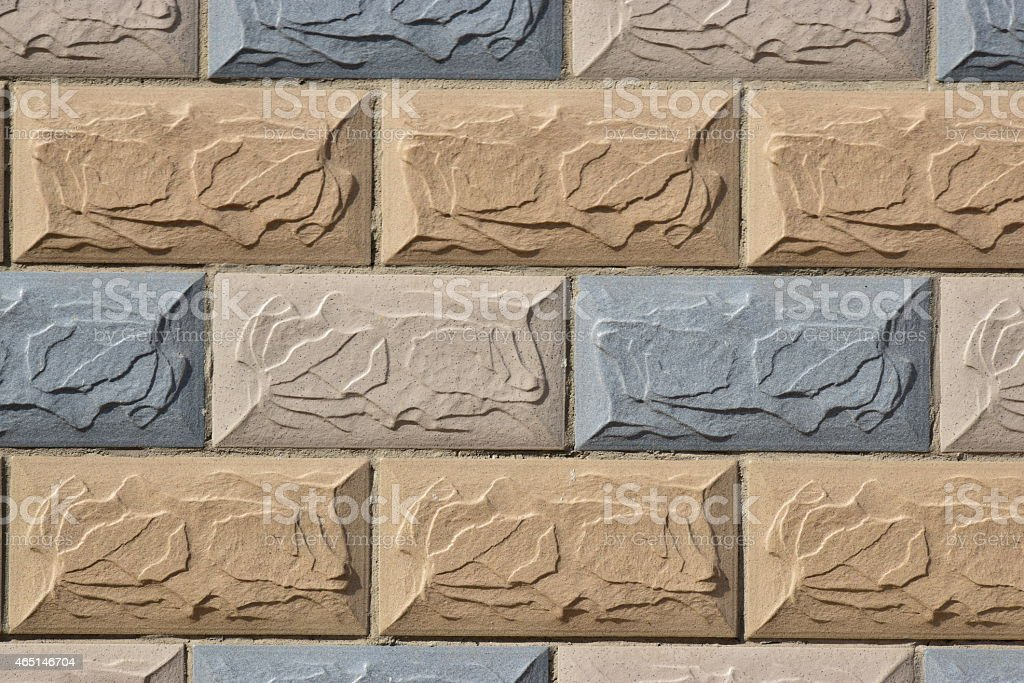 Colourful wall sidelit stock photo