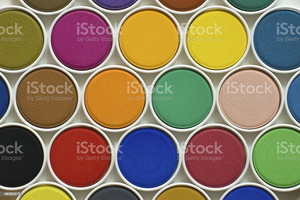 Colourful water paint royalty-free stock photo