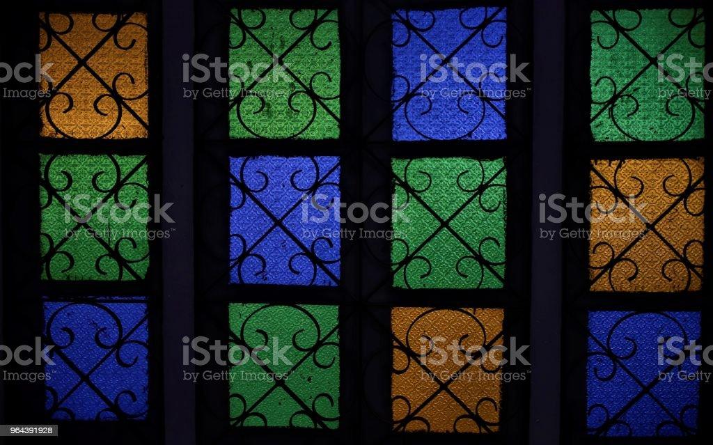 Kleurrijke windows van een majjid - Royalty-free Architectonisch element Stockfoto