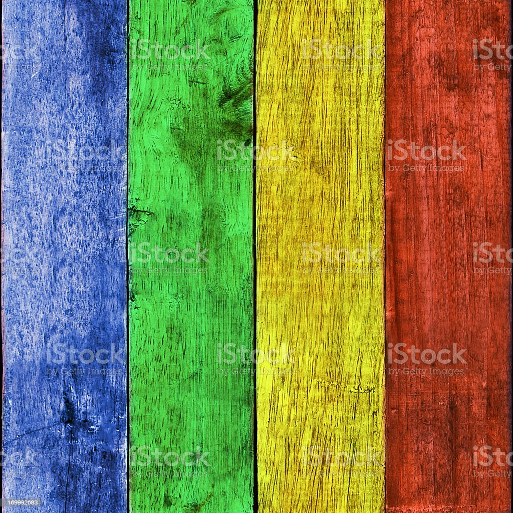 Colourful Wooden Board Background Tile (Seamless In All Directions) stock photo