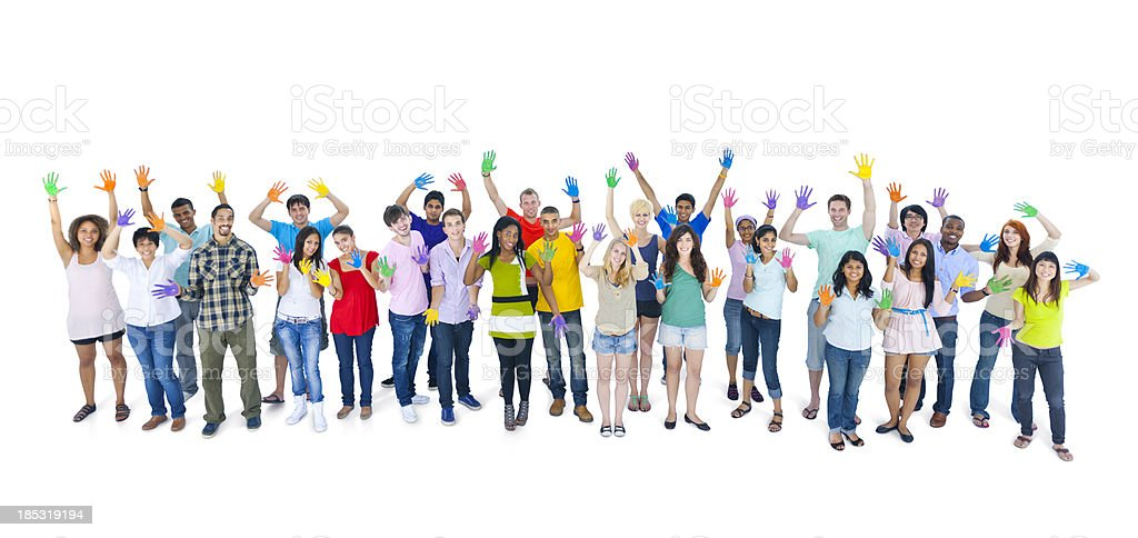 Colourful world youth. royalty-free stock photo