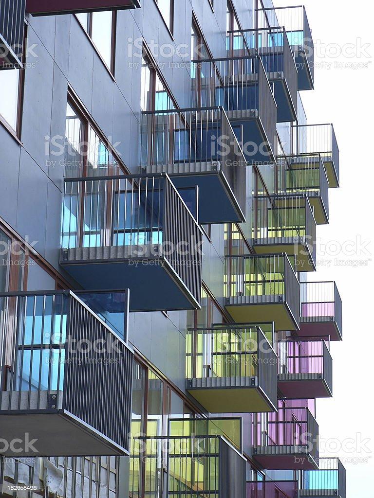 Colourfull Balcony royalty-free stock photo