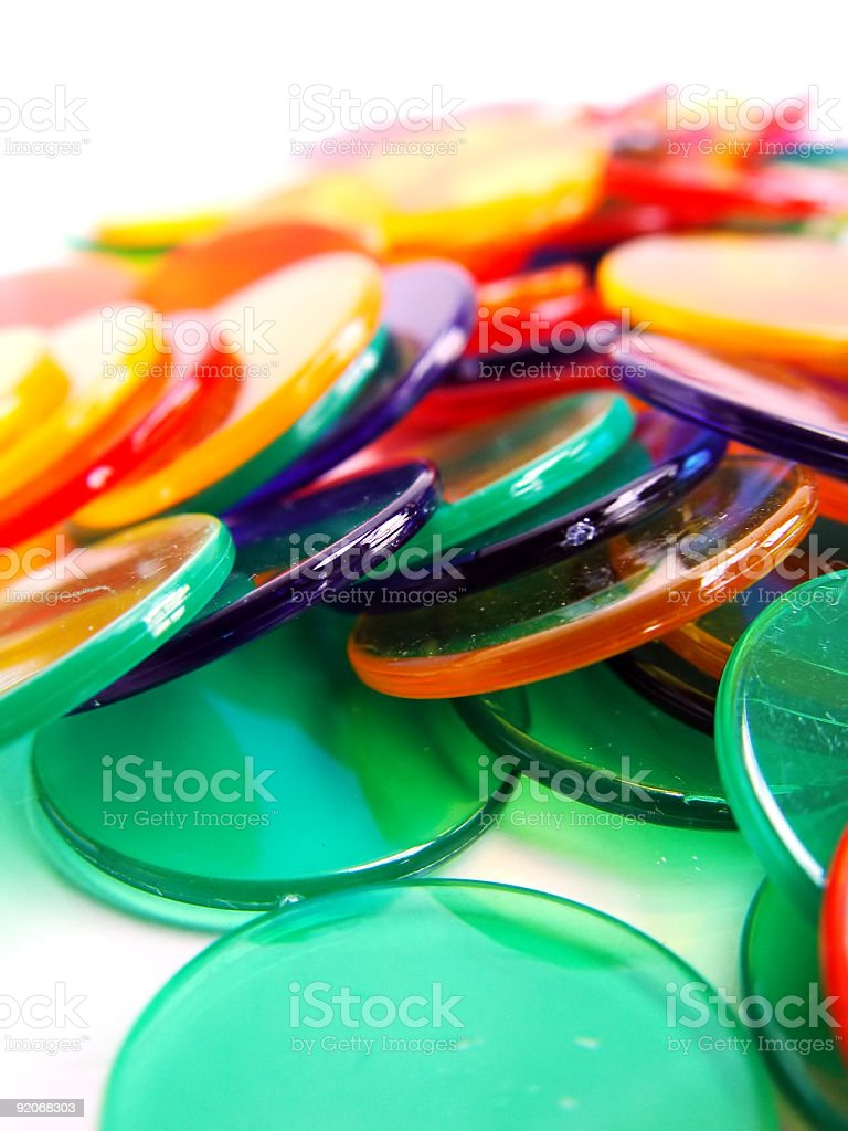 Colourfull Counters stock photo