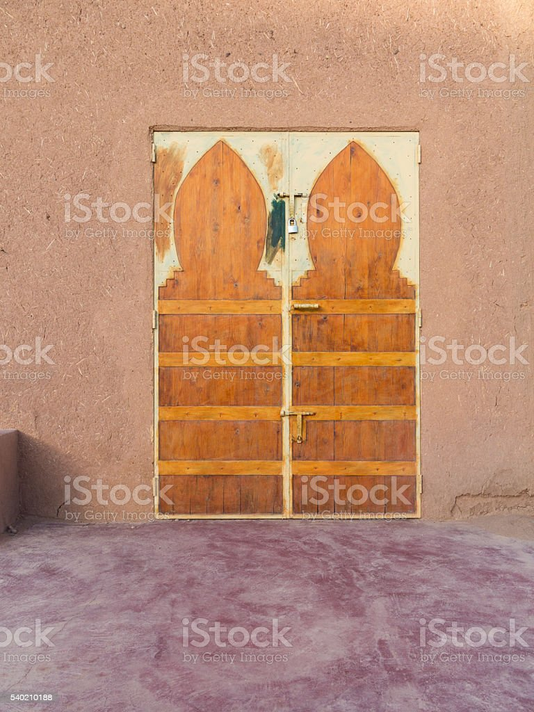 Colourfully painted door in Morocco
