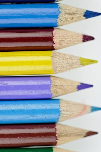 Colouring pencils stock photo